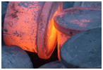 upset forging furnaces and shaft forging